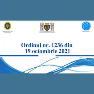 Ordinul Nr. 1236 din 19 octombrie 2021 cu privire la prelungirea vacanței de toamnă