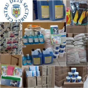DETS Centru a dotat toate instituțiile IET din subordine cu produse sanitaro-igienice și dezinfectanți.